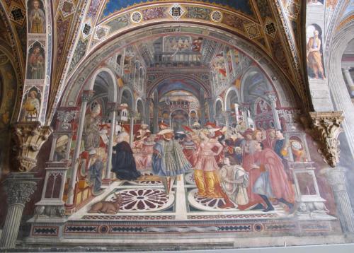Fresque murale à Sienne en Italie